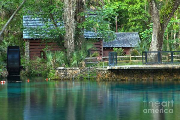 Photograph - Fuzzy Reflections Of The Juniper Springs Mill by Adam Jewell