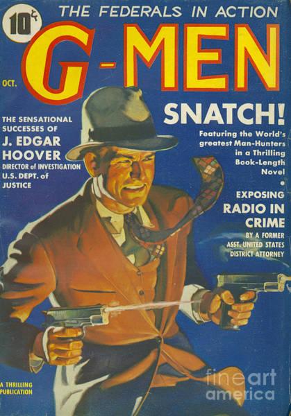 Nineteen-thirties Wall Art - Drawing - G-men Gmen Gmen 1935 1930s Usa Fbi by The Advertising Archives