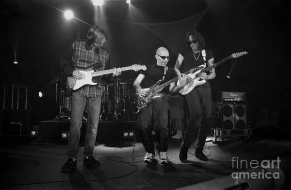 Joe Satriani Photograph - G3 Satriani Johnson Vai by Concert Photos