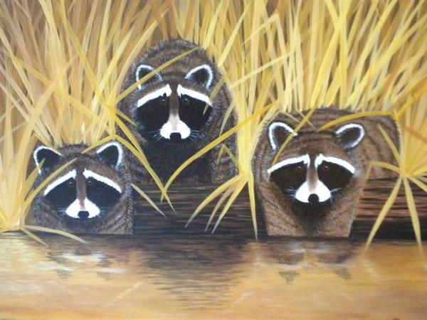 Rhea Painting - Ga Marsh Cats by Rhea Witthoft