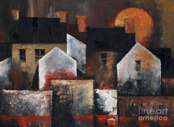 Painting - Gables Sunset by Val Byrne