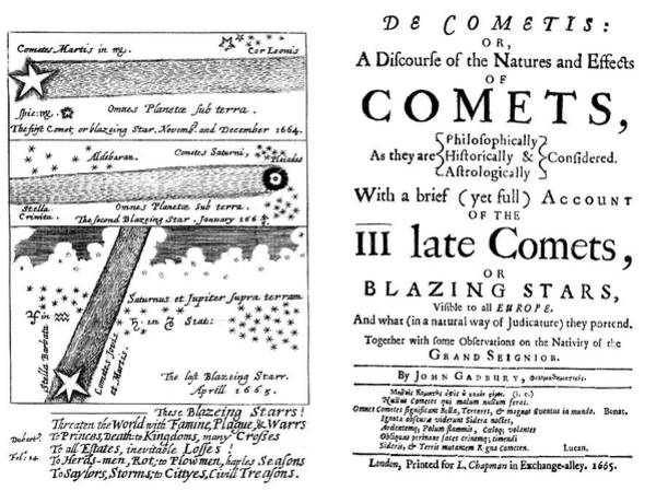 1665 Wall Art - Photograph - Gadbury's Book On Comets by Royal Astronomical Society/science Photo Library