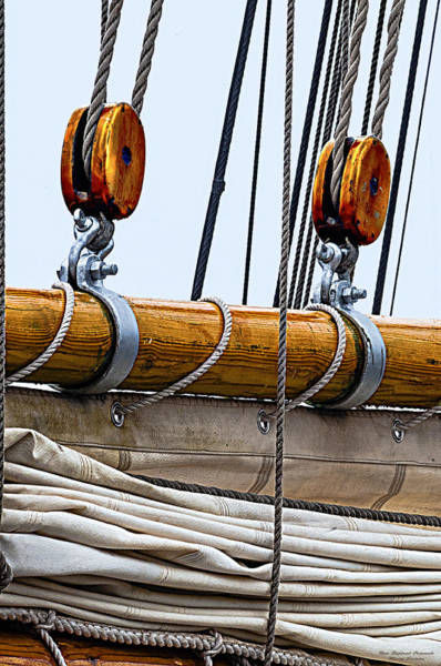 Rigging Photograph - Gaff And Mainsail by Marty Saccone