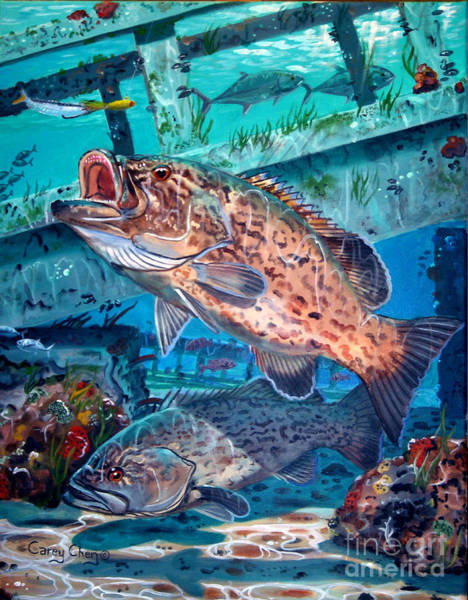 Bend Painting - Gag Grouper In0030 by Carey Chen