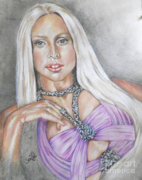 Wall Art - Drawing - Gaga I Live On The Applause by Sandra Valentini