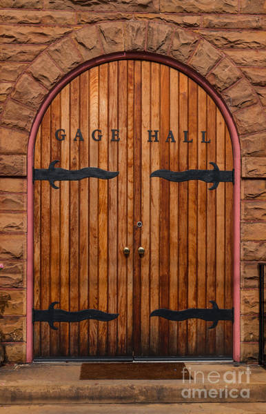 Photograph - Gage Hall Door by Dale Powell