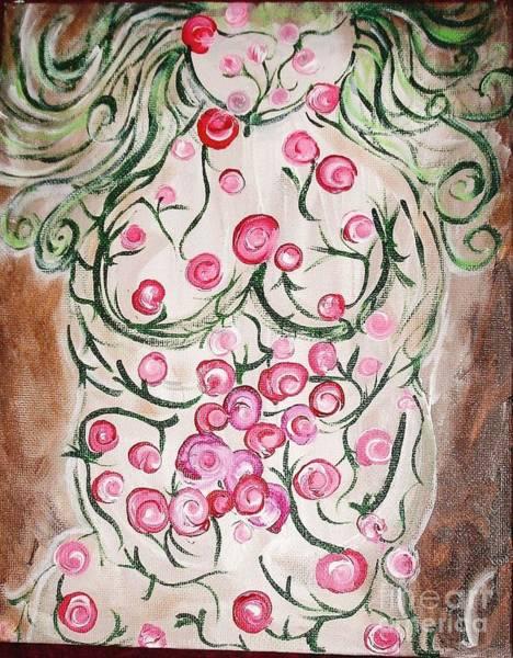 B. Melusine Mihaltses Wall Art - Painting - Gaia In Bloom by B Melusine Mihaltses