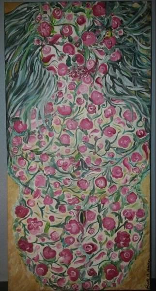 B. Melusine Mihaltses Wall Art - Painting - Gaia's  Sacred Portals  by B Melusine Mihaltses