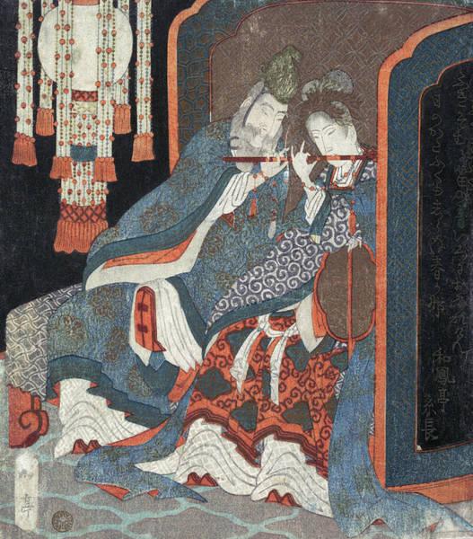 Painting - Gakutei Genso And Yokihi, C1820 by Granger