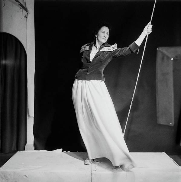 Eastern European Photograph - Gala Dali Holding Rod by Horst P. Horst