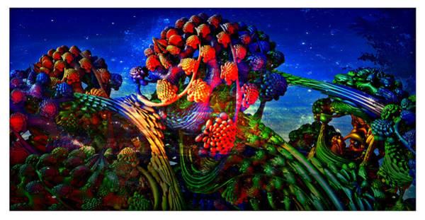Fractal Landscape Digital Art - Galactic Broccoli Jelly by Tim Casara