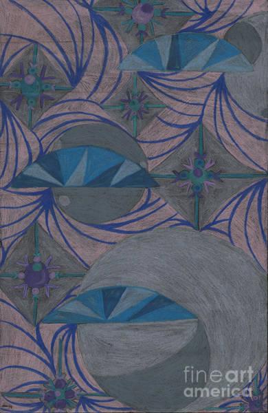 Grey Skies Drawing - Galactic by Kim Sy Ok
