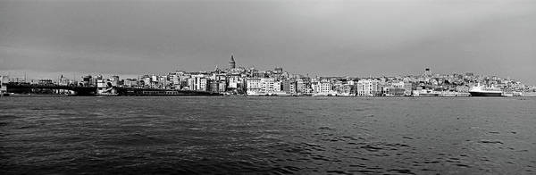 Bosphorus Bridge Photograph - Galata Bridge And Buildings On Golden by Panoramic Images