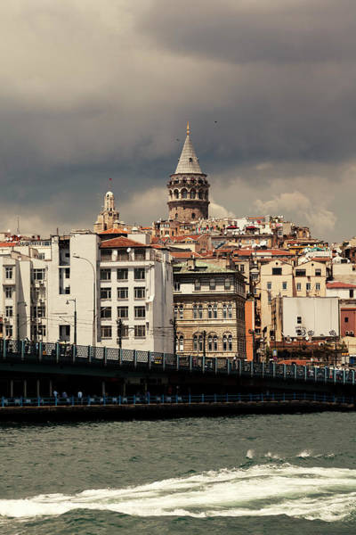 Galata Photograph - Galata Tower And Bridge In Istanbul by Pixedeli