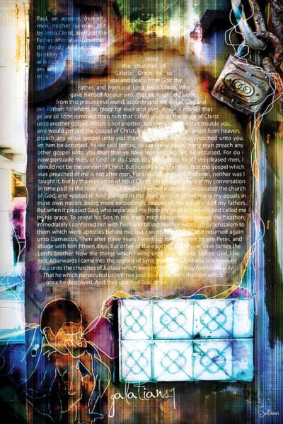 Sacred Heart Digital Art - Galatians 1 by Switchvues Design