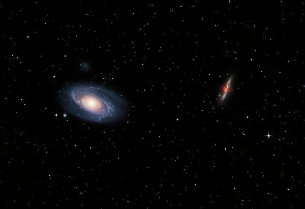 Interacting Galaxies Wall Art - Photograph - Galaxies M81 And M82 by Robert Gendler/science Photo Library