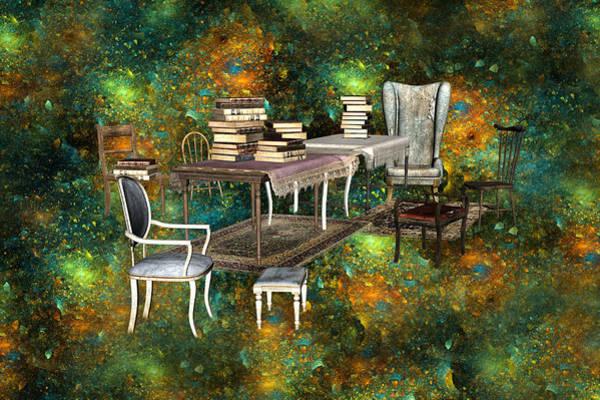 3d Render Digital Art - Galaxy Booking by Betsy Knapp