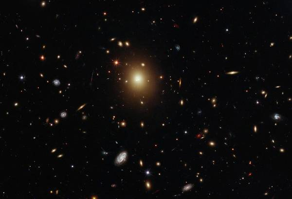Ir Photograph - Galaxy Cluster Abell 2261 by Nasa/esa/m. Postman (stsci), T. Lauer (noao), And The Clash Team/science Photo Library
