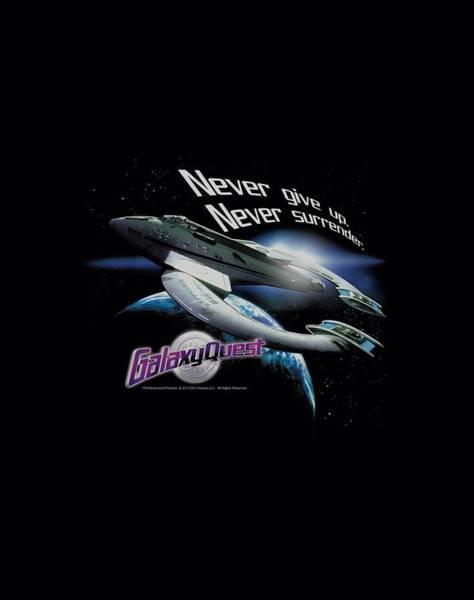 Galaxies Digital Art - Galaxy Quest - Never Surrender by Brand A