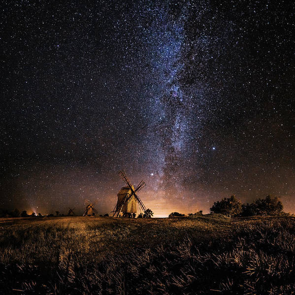 Windmills Photograph - Galaxy Rising by J?rgen Tannerstedt