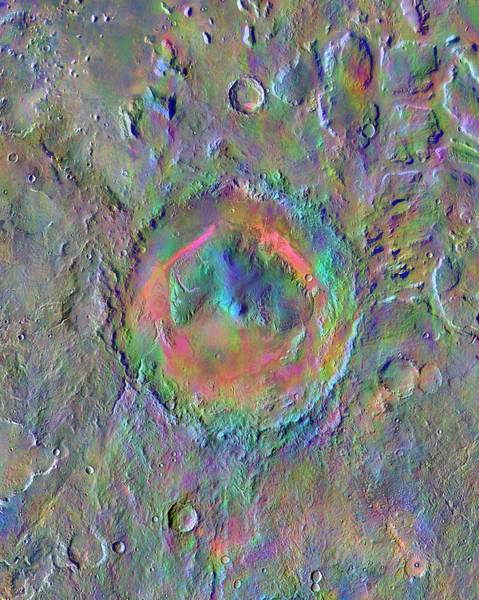 Geographical Wall Art - Photograph - Gale Crater by Nasa/jpl-caltech/asu
