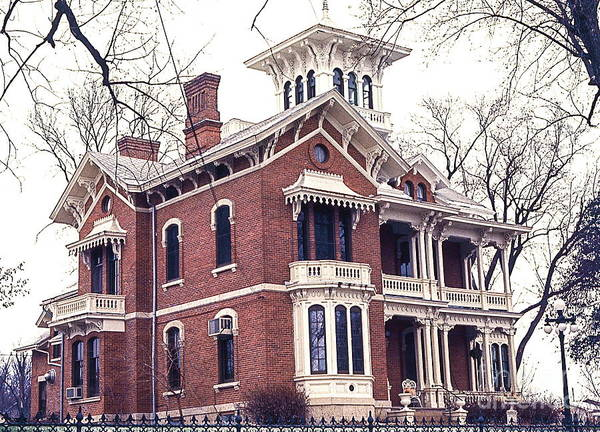 The Belvedere Photograph - Galena Illinois. The Beautiful Victorian Belvedere Home. by Robert Birkenes