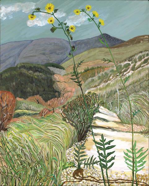 Acrilic Painting - Galilee Silphium Laciniatum by Smadar Sonya Strauss