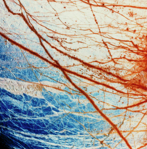 Wall Art - Photograph - Galileo Spacecraft Image Of Europa's Surface by Nasa