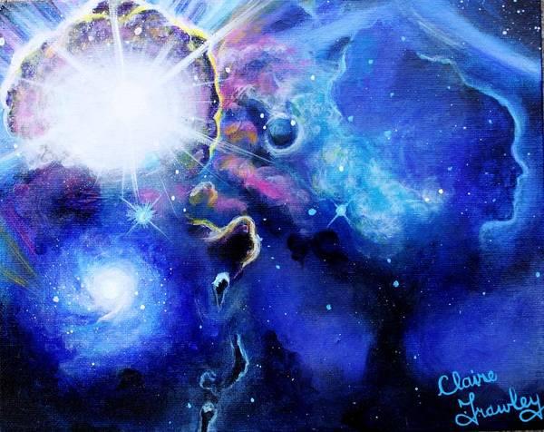 Star Formation Painting - Gallaxy Of Dreams by Claire Frawley