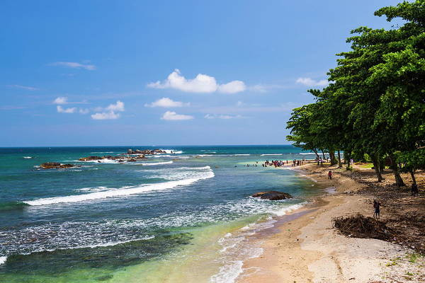 High Tide Photograph - Galle Beach, Old Town Of Galle, Unesco by Matthew Williams-ellis / Robertharding
