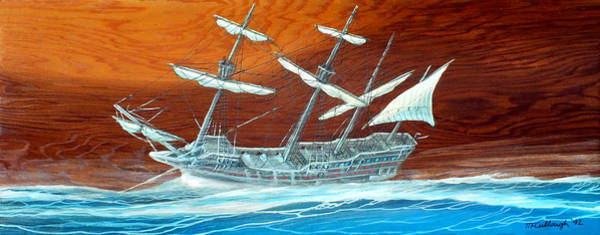 Painting - Galleon In The Storm by Duane McCullough