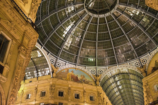 Galleria Vittorio Emanuele II At Night Art Print