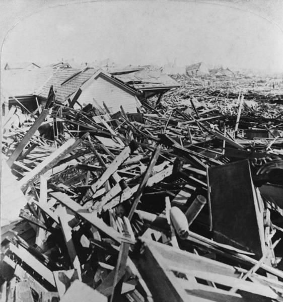 Wall Art - Photograph - Galveston, Texas Hurricane Aftermath by M.e. Warren
