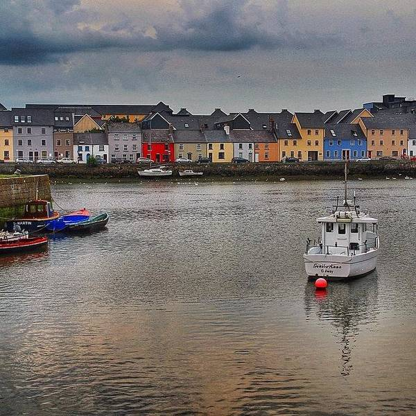 Wall Art - Photograph - #galway #ireland #houses #sea #atlantic by Luisa Azzolini