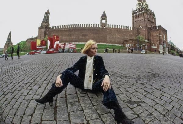 Central Europe Photograph - Galya Milovskaya Sitting By The Kremlin by Arnaud de Rosnay