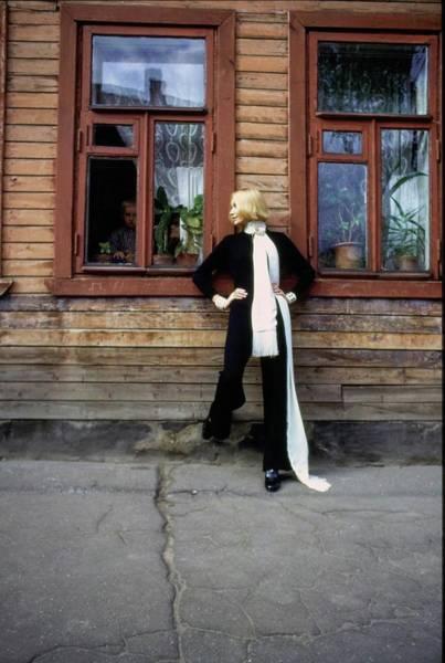 Central Europe Photograph - Galya Milovskaya Wearing A Black Jumpsuit by Arnaud de Rosnay