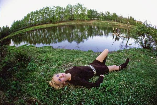 Central Europe Photograph - Galya Milovskaya Wearing A Brown Dress by Arnaud de Rosnay