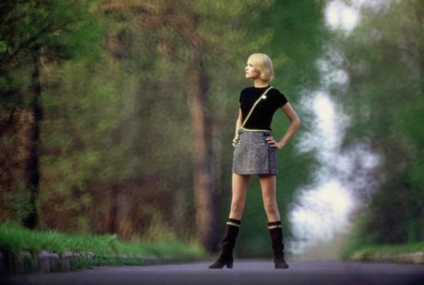 Central Europe Photograph - Galya Milovskaya Wearing A Tweed Skirt by Arnaud de Rosnay