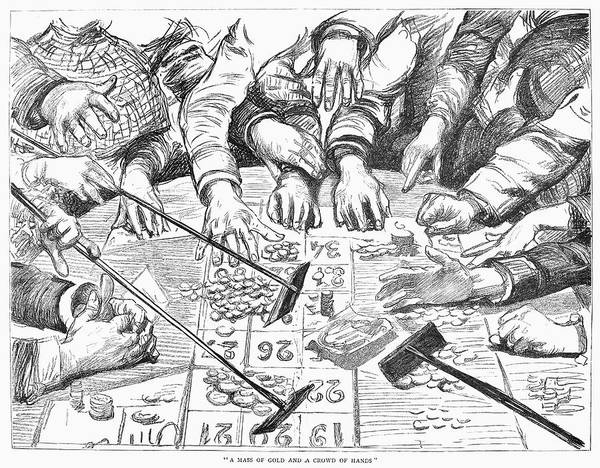 Risk Drawing - Gambling Table, 1886 by Granger