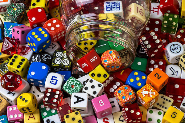 Wall Art - Photograph - Game Dice by Garry Gay
