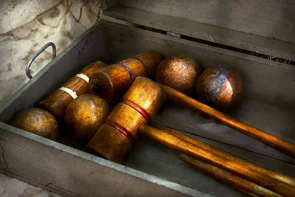 Photograph - Game - Everyone Loves To Play Croquet   by Mike Savad