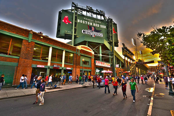 Photograph - Game Night Fenway Park by Toby McGuire