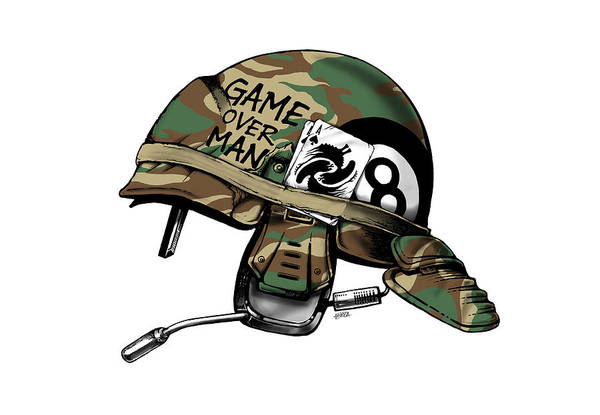 Full Metal Jacket Wall Art - Digital Art - Game Over Man by Vincent Carrozza