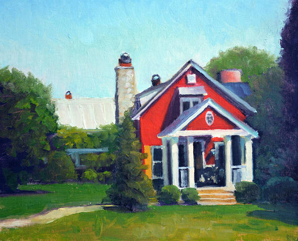 The Restaurant Painting - Gamekeepers Cottage Late Afternoon by Armand Cabrera