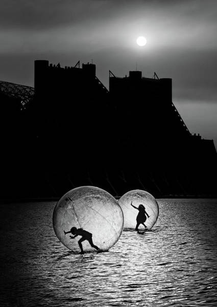 Float Wall Art - Photograph - Games In A Bubble by Juan Luis Duran