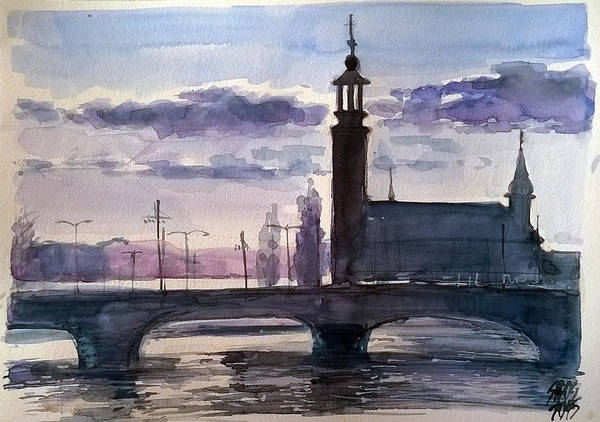 Painting - Gamla Stan Stockholm I. by Lorand Sipos