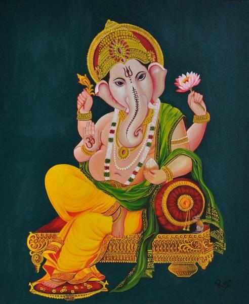 Ganesh Painting - Ganapathi by Rupa Prakash