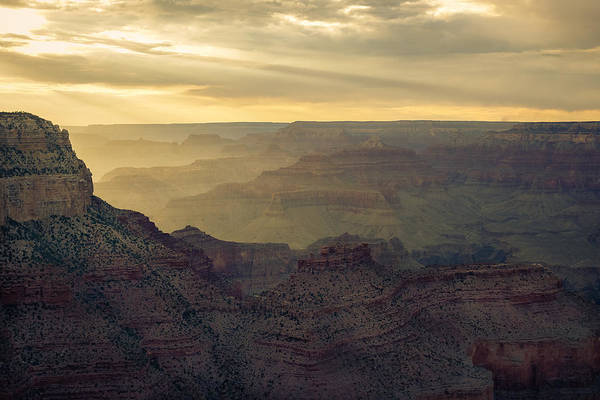 Photograph - Gand Canyon Yellow Sunset by Chris Bordeleau