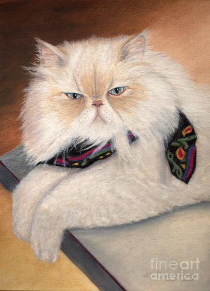Drawing - Gandolph's Scarf by Lora Duguay