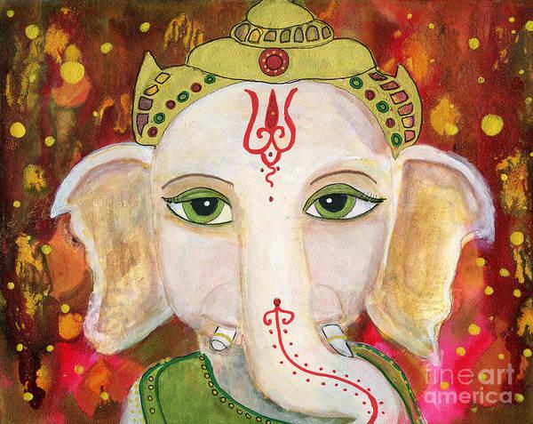 Ganesh Painting - Ganesh by AnaLisa Rutstein